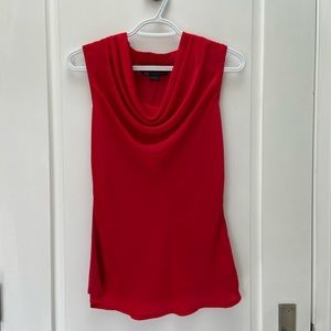 Armani Exchange red sleeveless blouse size small